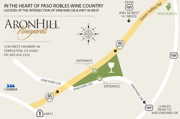 AronHill Vineyards Map